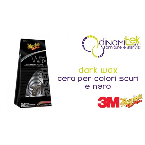 82746 DARK WAX CERA - CERA PER AUTO PER COLORI SCURI E NERO 198 GR 3M MEGUIAR'S CON APPLICATORE