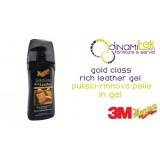 GOLD CLASS RICH LEATHER GEL CLEANER RENEWS THE SKIN TO DRIVE 400 ML 3M Dinamitek 1