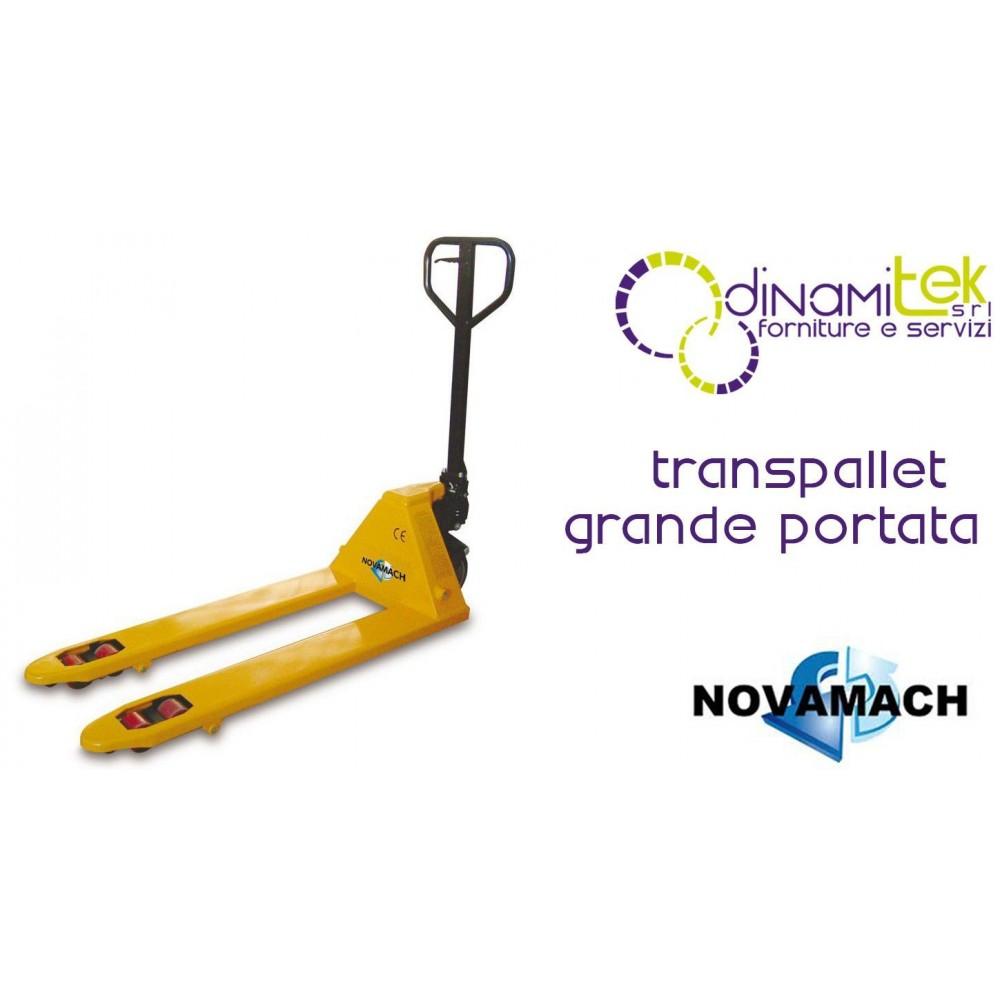 NL2-180 TRANSPALLET MANUALE LUNGO PORTATA 2000 KG NOVAMACH Dinamitek 1