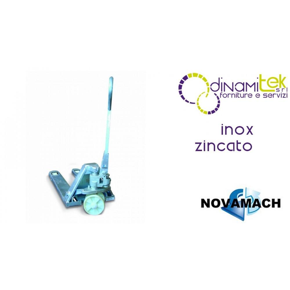 NL1-80-Z PALLET TRUCK, MANUAL, SHORT, ZINC PLATED CAPACITY 2500 KG NOVAMACH Dinamitek 1