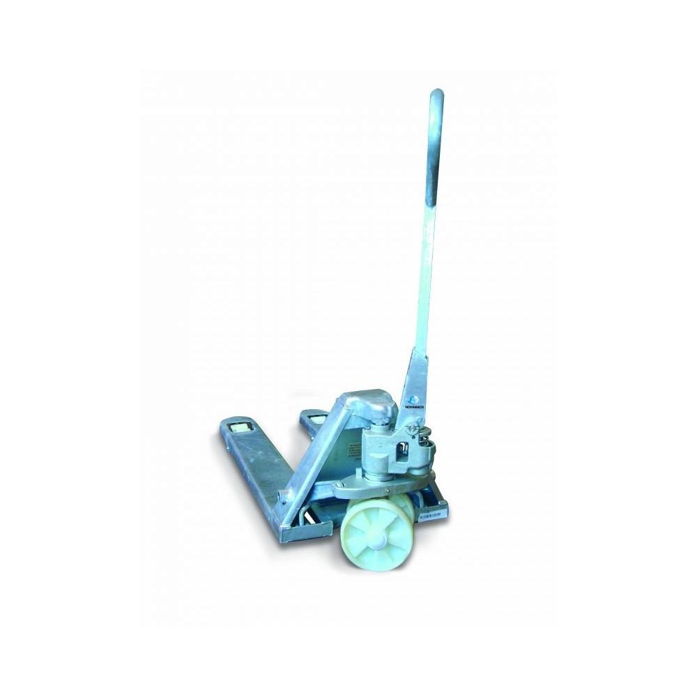NL1-80-Z PALLET TRUCK, MANUAL, SHORT, ZINC PLATED CAPACITY 2500 KG NOVAMACH Dinamitek 3