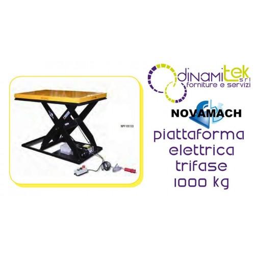 NPF100EQ PIATTAFORMA ELETTROIDRAULICA TRIFASE PORTATA 1000KG NOVAMACH Dinamitek 1