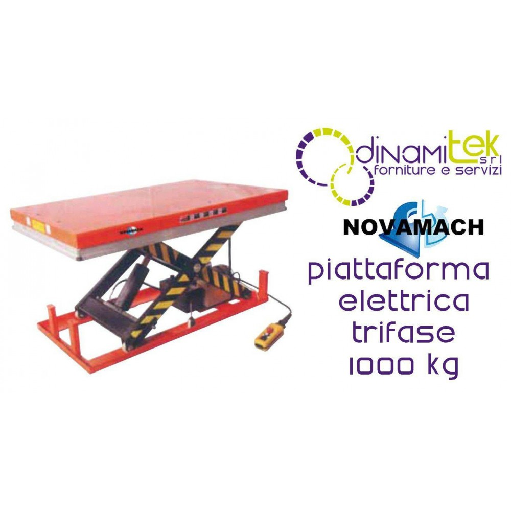 NPF100EL PLATFORM ELECTRO-HYDRAULIC THREE-PHASE CAPACITY 1000KG NOVAMACH Dinamitek 1
