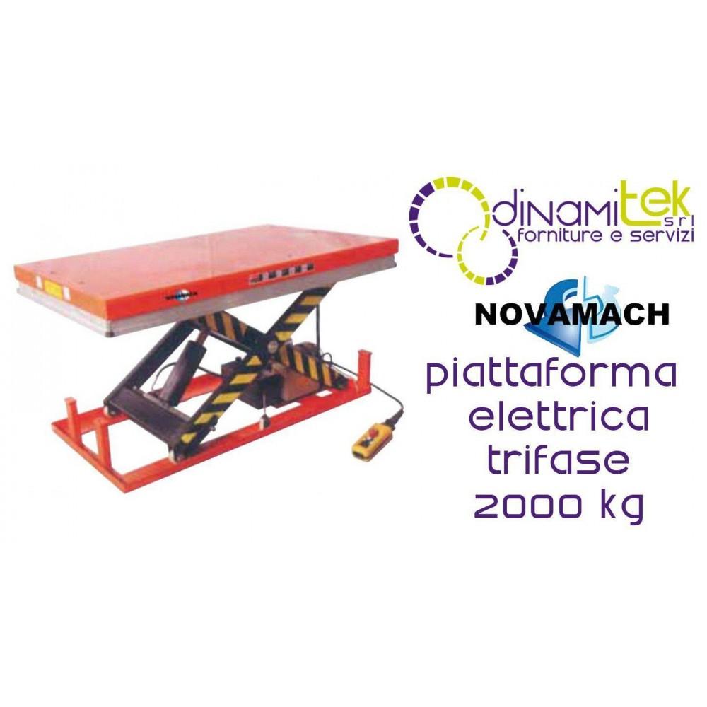 NPF200EL PIATTAFORMA ELETTROIDRAULICA TRIFASE PORTATA 2000KG NOVAMACH Dinamitek 1