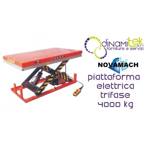 NPF400EL PLATE-FORME éLECTRO-HYDRAULIQUE à TROIS-PHASE FLOW 4000KG NOVAMACH Dinamitek 1