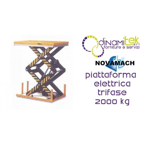 NPFD200E PLATE-FORME DE L'éLECTRO-HYDRAULIQUES TRIPHASé DéBIT 2000KG NOVAMACH Dinamitek 1