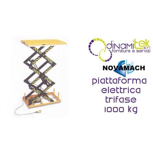 NPFA100E PIATTAFORMA ELETTROIDRAULICA TRIFASE PORTATA 1000KG NOVAMACH Dinamitek 1