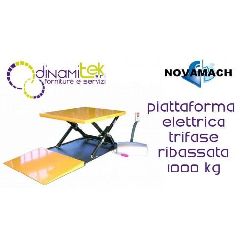 NPF100ED PIATTAFORMA ELETTROIDRAULICA TRIFASE RIBASSATA DA 1t NOVAMACH Dinamitek 1
