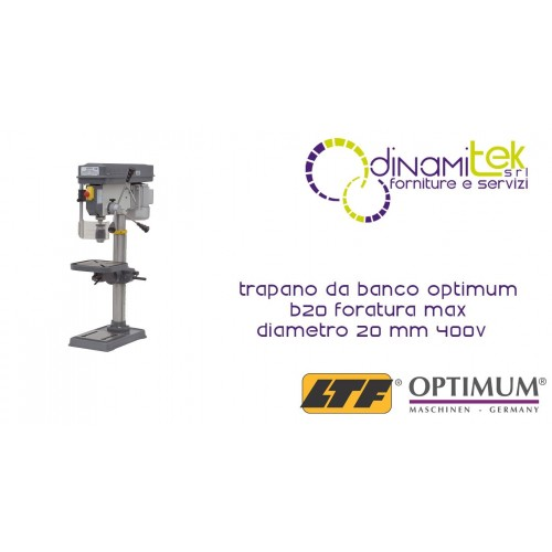 OPT058OP8203 - DRILL-THE-COUNTER MODEL B20 DRILLING MAX Ø 20 MM - 400V Dinamitek 1