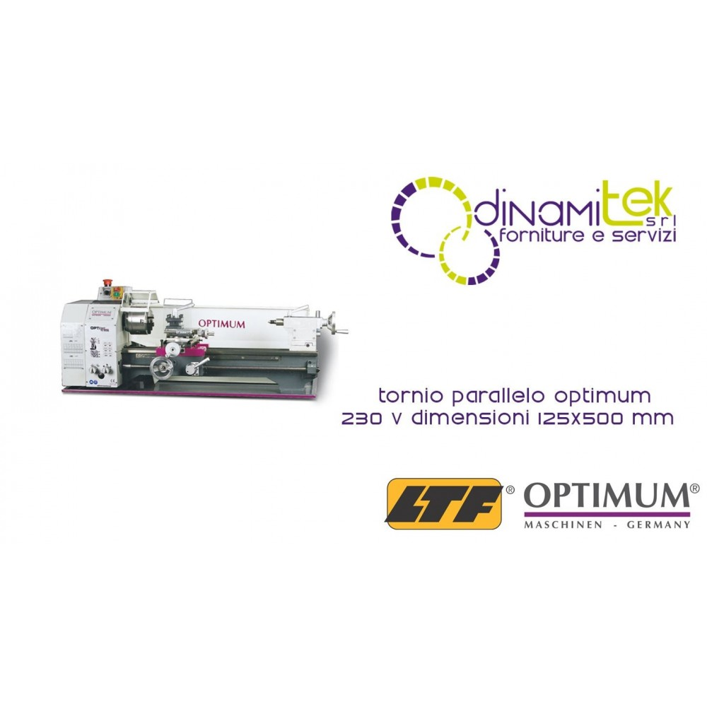 OPT050OP5001 - Tornio Parallelo Modello TU2506 - 230 V - Dimensioni 125X500 Mm Dinamitek 1