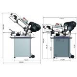 OPT057OP0131 - Segatrice A Nastro Modello S 131GH Per La Lavorazione Dei Metalli Con Archetto Orientabile 220V Dinamitek 3
