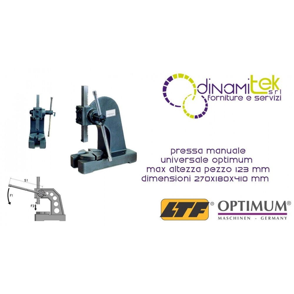 OPT111OP9011 - PRESS UNIVERSAL, MANUAL MODEL DDP 10 - MAX PIECE HEIGHT 123 MM - SIZE 270X180X410 MM Dinamitek 1