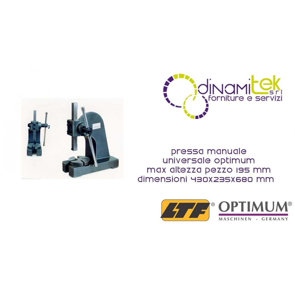 OPT111OP9012 - PRESS UNIVERSAL, MANUAL MODEL DDP 20 - MAX PIECE HEIGHT 195 MM - SIZE 430X235X680 MM Dinamitek 1