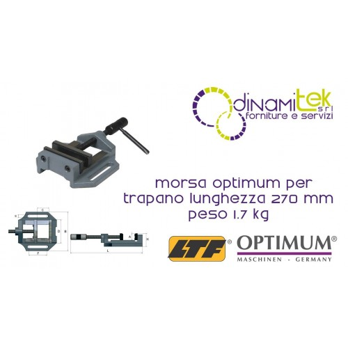 OPT025OP0075 - VISE MODEL MSO 75 FOR DRILL - LENGTH 270 MM WEIGHT 1.7 KG Dinamitek 1