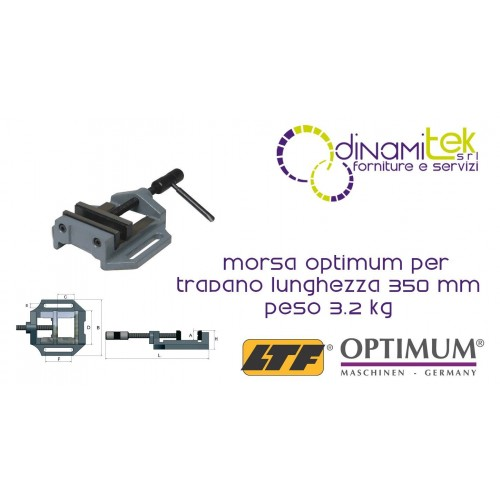 OPT025OP0100 - VISE MODEL MSO 100 FOR DRILL - LENGTH 350 MM WEIGHT 3.2 KG Dinamitek 1