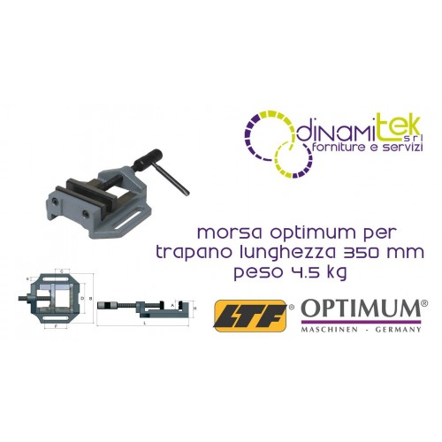 OPT025OP0125 - VISE MODEL MSO 125 FOR DRILL - LENGTH 400 MM WEIGHT 4.5 KG Dinamitek 1