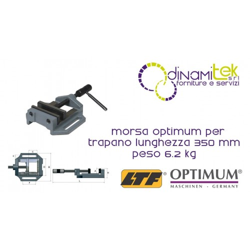 OPT025OP0150 - VISE MODEL MSO 150 FOR DRILL - LENGTH 455 MM WEIGHT 6.2 KG Dinamitek 1
