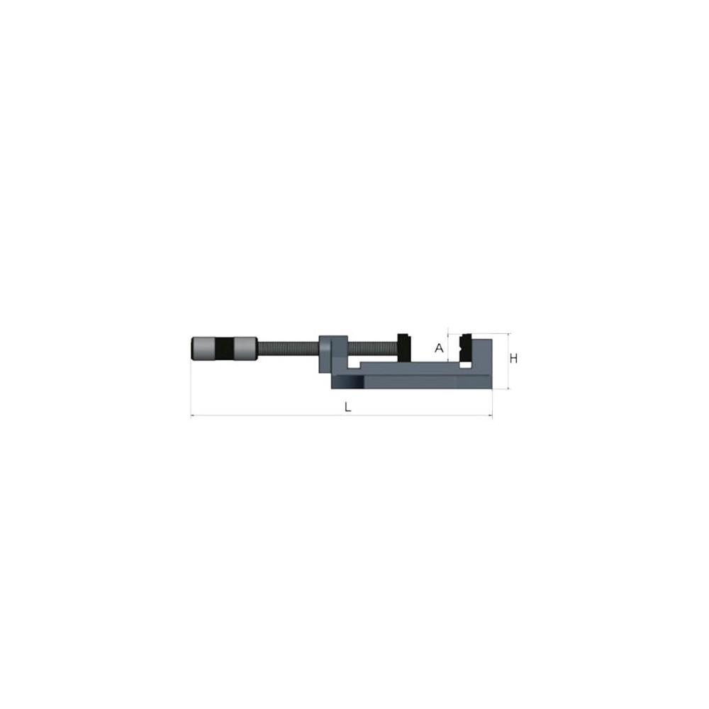 OPT025OP0150 - VISE MODEL MSO 150 FOR DRILL - LENGTH 455 MM WEIGHT 6.2 KG Dinamitek 3