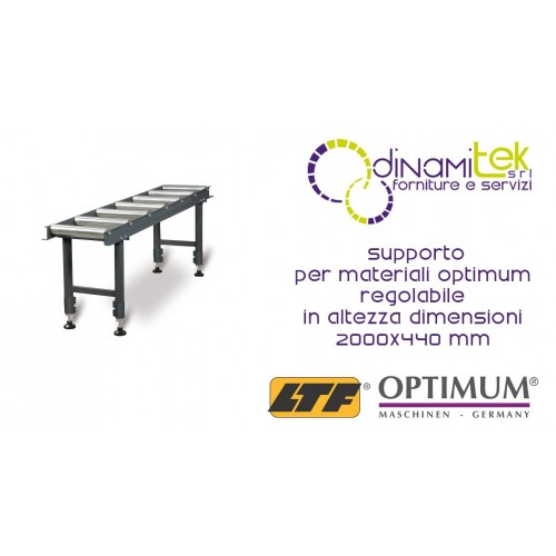 OPT057OP7611 - Supporto Per Materiali Modello MSR 7 Regolabile In Altezza - Dimensioni 2000X440 Mm Dinamitek 1