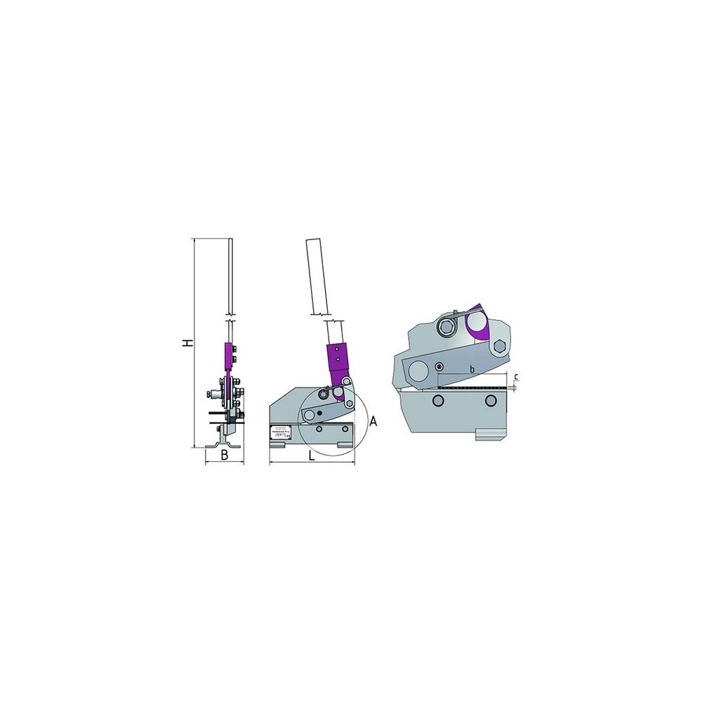 OPT111OP1012 - Cesoia A Leva Modello PS 300 - Max Lunghezza Taglio 235 Mm Dinamitek 3