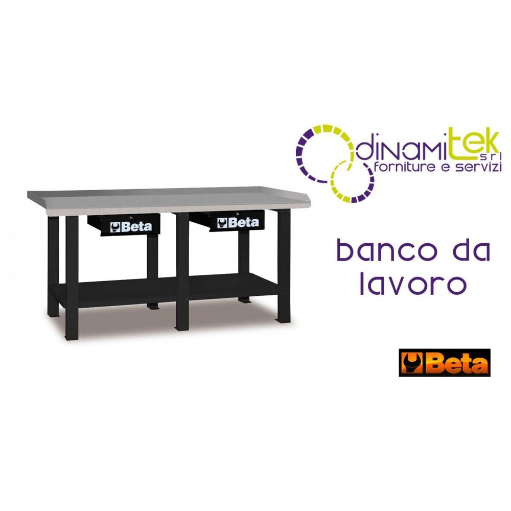 056000202 C56 G BANCO DA LAVORO IN LAMIERA DUE CASSETTI GRIGIO BETA Dinamitek 1