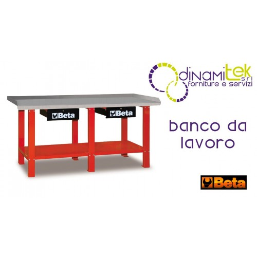 0BANCO WORK IN SHEET METAL, TWO DRAWERS, RED C56 R BETA Dinamitek 1