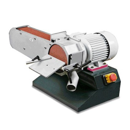 OPT054OP0075 - BELT SANDER AND DISC MODEL DBS 75 WITH THE ARM, THE GRINDING WHEEL SWIVEL - DISC DIAMETER 150 MM Dinamitek 2