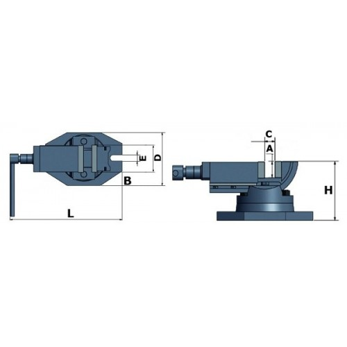 OPT3354170 - CLAMP TWO-AXIS MODEL ZAS 50 50 MM Dinamitek 3