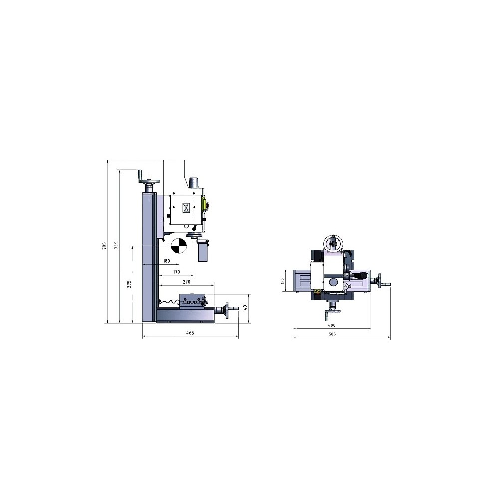 OPT056OP116V - Piccolo Trapano-Fresatrice Modello BF 16Vario Con Azionamento Elettronico E Regolazione Continua - Potenza 230 V Dinamitek 3