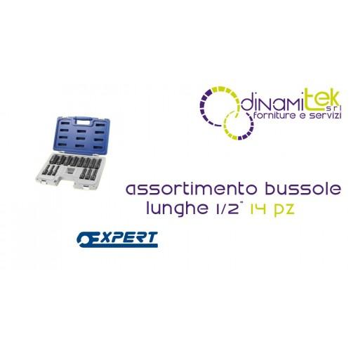 "E041602 ASSORTIMENTO BUSSOLE LUNGHE 1/2"" PASTORINO EXPERT 14 PEZZI Dinamitek 1"