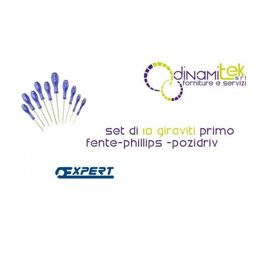 E160924 JUEGO DE 10 DESTORNILLADORES FENTE-PHILLIPS-POZIDRIV PASTORINO EXPERTO Dinamitek 1