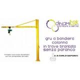 GRU A BANDIERA A COLONNA IN TRAVE TIRANTATA ALTA 3 m A.S.CARLO SAPORITI Dinamitek 1