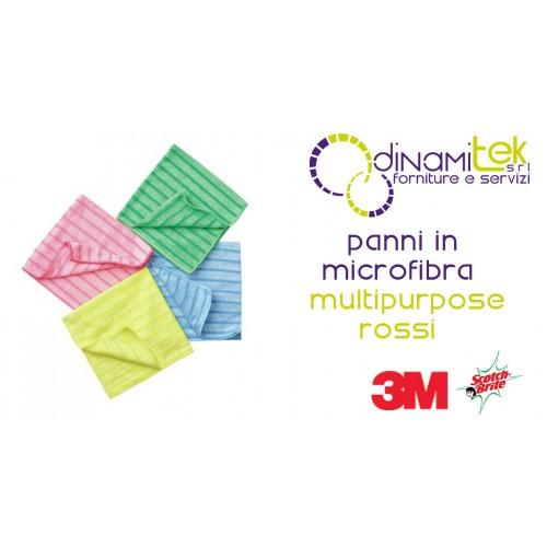 SCOTCH BRITE MFU14-CHIFFON EN MICROFIBRES MULTIFONCTION ROUGE 10 PCS 3M Dinamitek 1