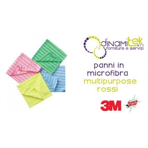 SCOTCH BRITE MFU14-MICROFIBER CLOTH MULTIPURPOSE RED 10 PCS 3M Dinamitek 1