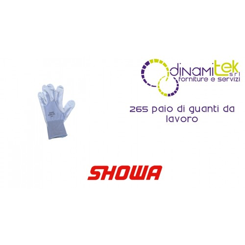 PAIR OF WORK GLOVES 265R SHOWA Dinamitek 1