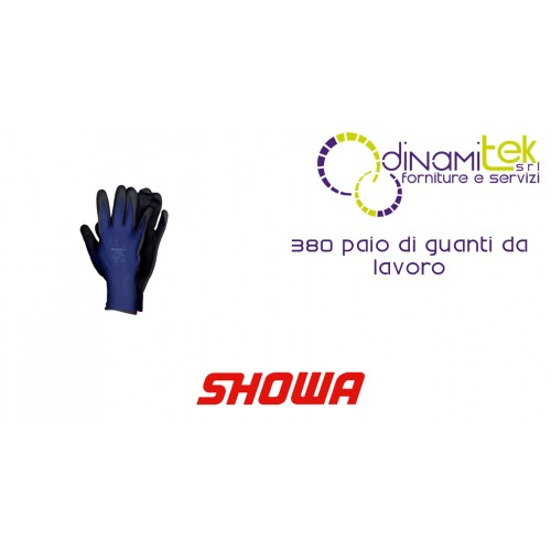 PAIR OF WORK GLOVES 380 SHOWA Dinamitek 1
