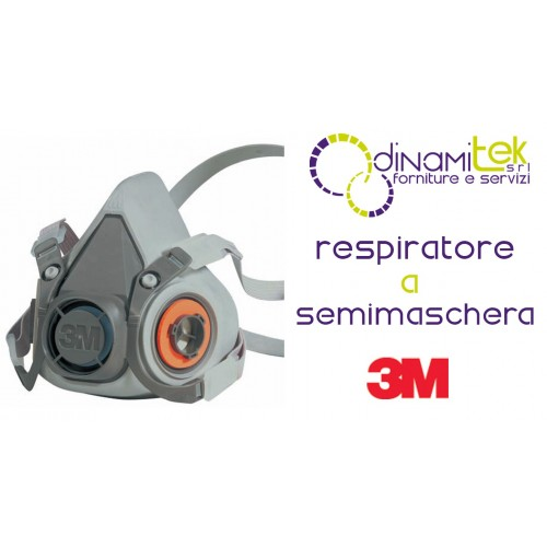 6300 RESPIRATOR IS A HALF MASK REUSABLE TG L 3M Dinamitek 1