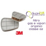 6055 COUPLE FILTERS FOR ORGANIC GASES AND VAPOURS, CLASS A2 3M Dinamitek 1