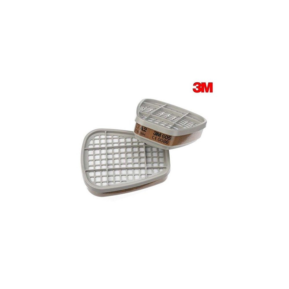 6055 COUPLE FILTERS FOR ORGANIC GASES AND VAPOURS, CLASS A2 3M Dinamitek 2