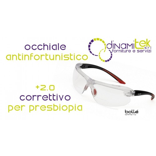 IRIDPSI15 GLASSES FOR PRESBYOPIA +2.0 BUBBLE' SAFETY Dinamitek 1