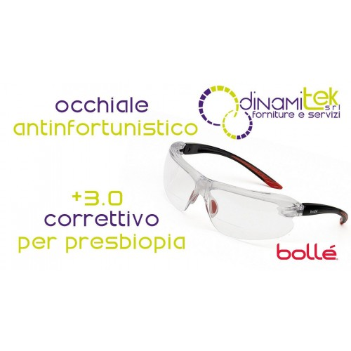 IRIDPSI15 GLASSES FOR PRESBYOPIA +3.0 BOLLE' SAFETY Dinamitek 1
