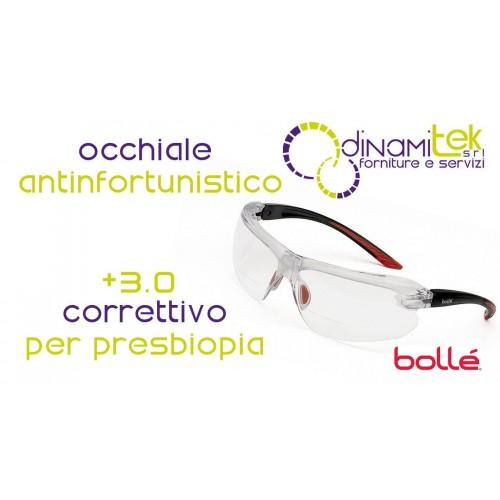IRIDPSI15 OCCHIALE DA LAVORO PER PRESBITI +3.0 BOLLE' SAFETY Dinamitek 1