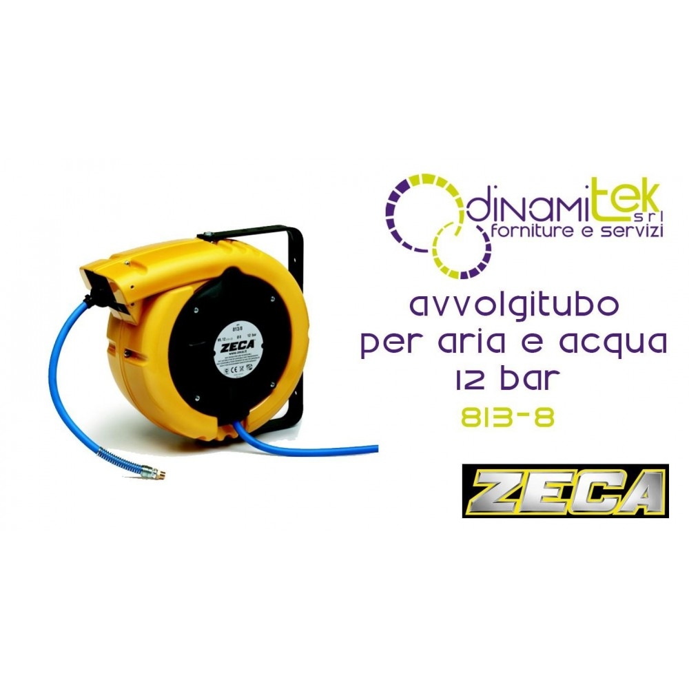 813/8 HOSE REEL SERIES 831 FOR AIR AND WATER 12 BAR ZECA TUBE, MT 12 - DIAM INT PIPE 8 MM Dinamitek 1