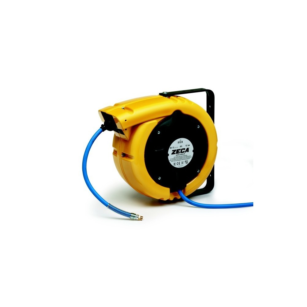 813/8 HOSE REEL SERIES 831 FOR AIR AND WATER 12 BAR ZECA TUBE, MT 12 - DIAM INT PIPE 8 MM Dinamitek 2