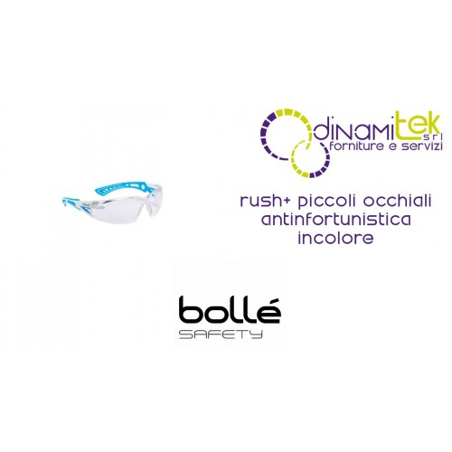 GLASSES SAFETY WEAR RUSH+ SMALL BOLLE' SAFETY Dinamitek 1