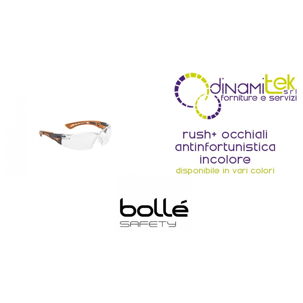 GLASSES ANTINFORTUNISTICIOLORE RUSH+ INC BOLLE' SAFETY Dinamitek 1