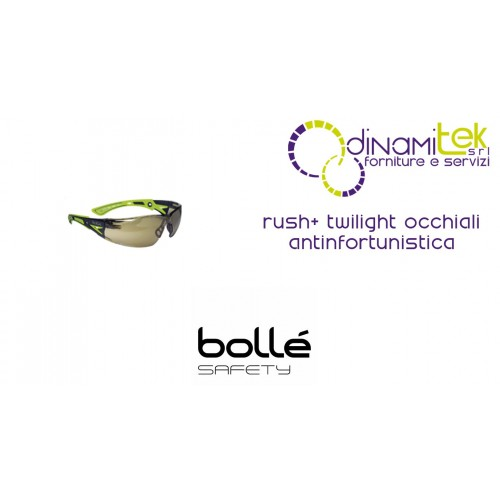GLASSES SAFETY WEAR RUSH+ TWILIGHT BOLLE' SAFETY Dinamitek 1