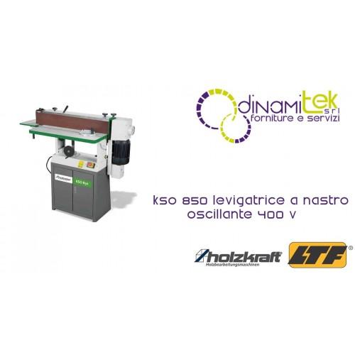 HOLZKRAFT - HOL5900850 - Levigatrice A Nastro Oscillante 400 V - Modello KSO 850 - Dimensioni 1430x600x1250 Mm Dinamitek 1
