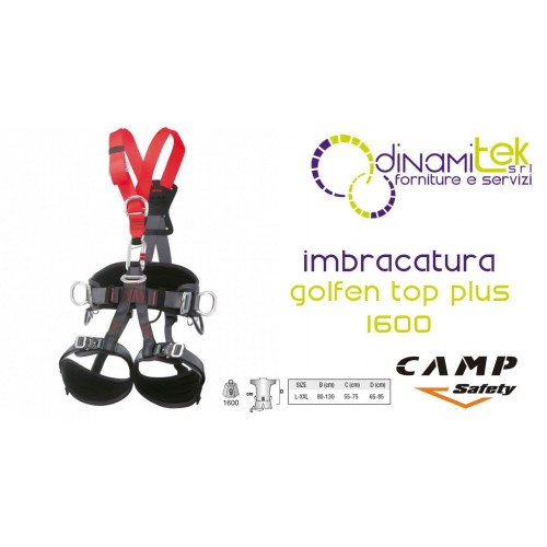 IMBRACATURA CAMP MODELLO GOLDEN TOP PLUS 1600 TAGLIA XXL CAMP SAFETY Dinamitek 1