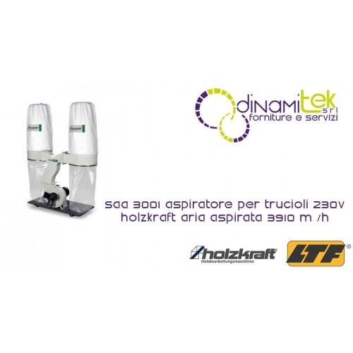 HOLZKRAFT - HOL5922301 - Aspiratore Per Trucioli 230V - Modello SAA 3001 - Aria Aspirata 3910 m/h Dinamitek 1
